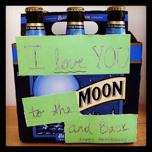 My rendition of makethebestofeverything.blogspot.com blue moon beer gift! Awesome idea.