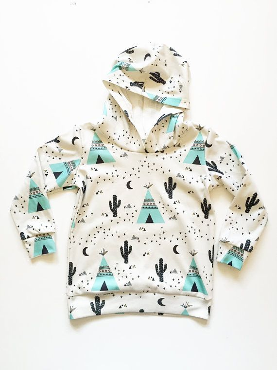 People just love our teepee print, and now its available in a hoodie! Our hoodies are made out of super soft 100% organic cotton knit.  This