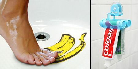 #chinavasion  15 Cool #Gadgets for your Bathroom        toothpaste squeezer and fake banana peel sticker for ur shower