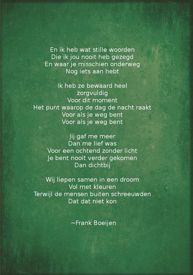 Afwezig ~Frank Boeijen