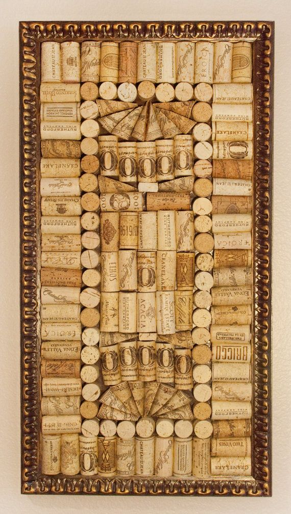 A one of a kind hand made antique looking wooden by for Wine cork patterns
