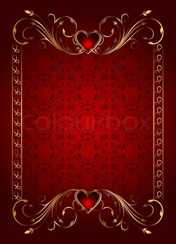 Illustartion floral card with hearts for Valentine's day - vector | Vector | Colourbox on Colourbox