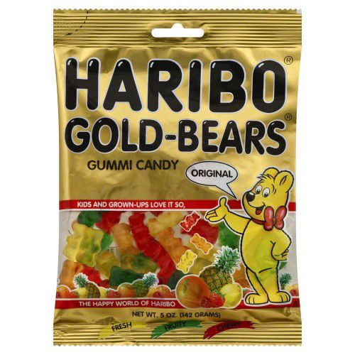 "Haribo Gold Bears Gummi Candy, Original ""The Red Ones Are More Gooder!""😄😁"