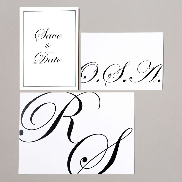 Classic Wedding Save the Date, Invitation and RSVP - www.postedwithlove.com