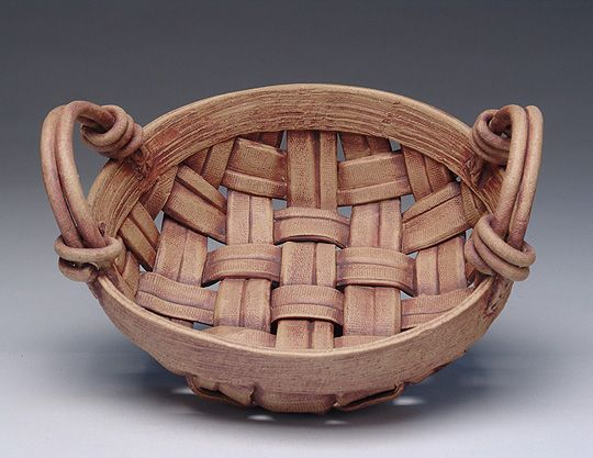 Basket weave pot, singing hands pottery