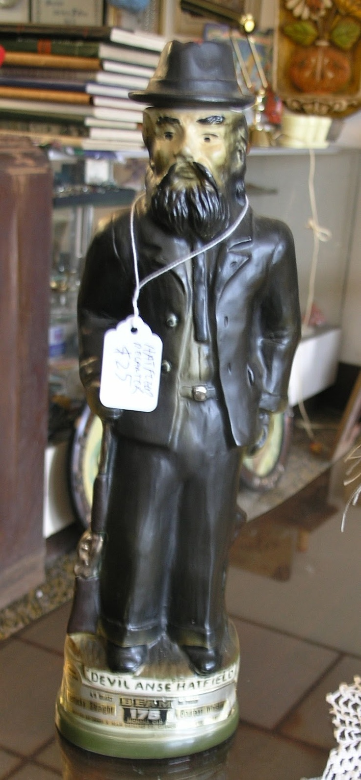 Devil Anse Hatfield liquor decanter