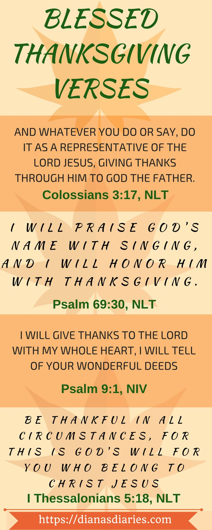 Happy Thanksgiving from my family to yours! I pray these 4 verses will bless and encourage you. I have included a link to print it out as well. #Thanksgiving #bookmark #bibleverses