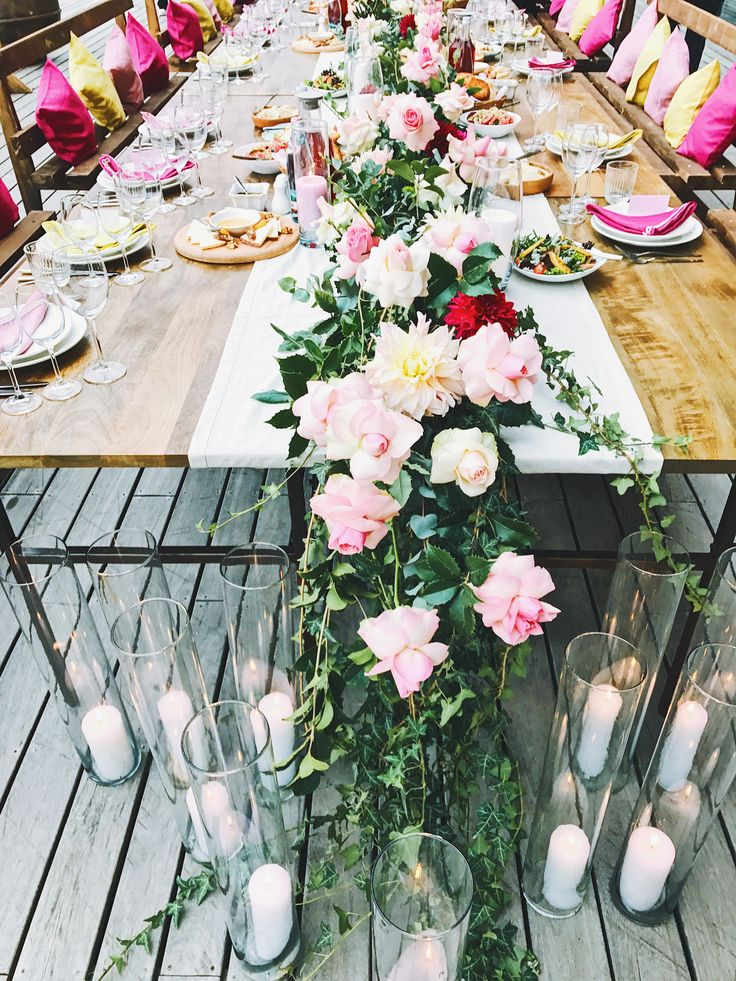 Wedding decor inspiration boho style flowers