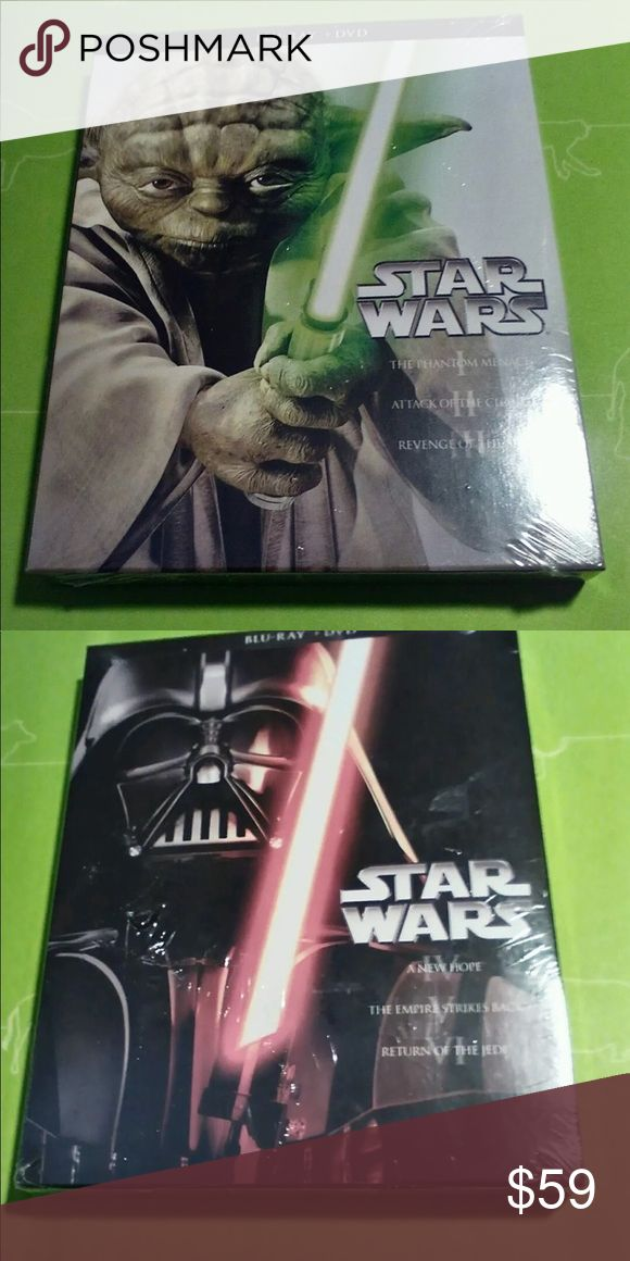 Blu-Ray Star Wars The Complete Saga New Sealed Two Sealed DVDs contains Six Films Other
