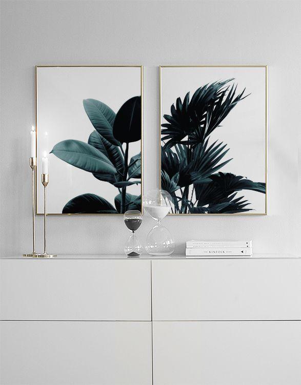 Snygga tavlor och posters ovanför sängen eller soffan | Fina tavlor i par