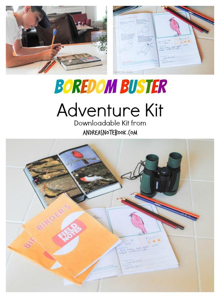 Ultimate Boredom Buster Kit download and print for hours of fun!