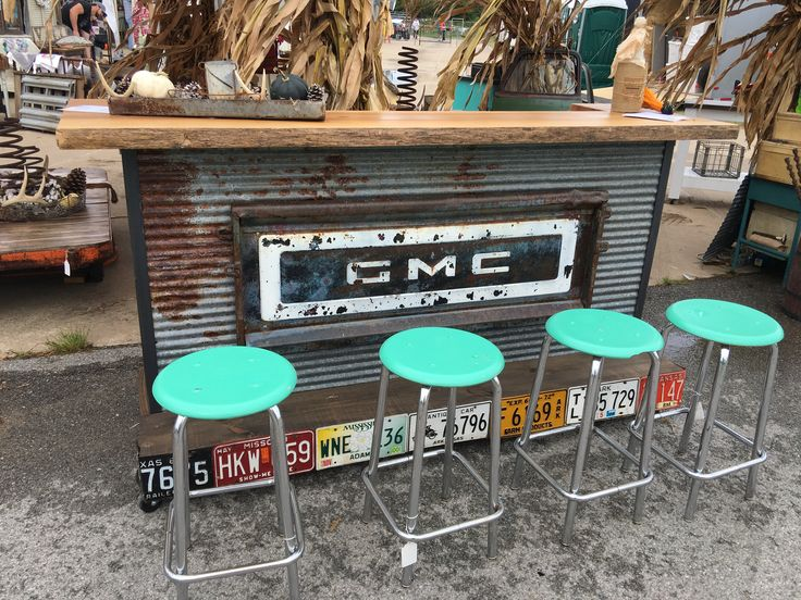 Repurposed truck tailgate bar by Southern Boy Primitives