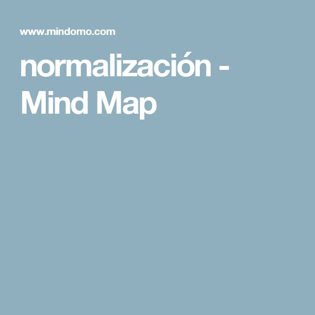 normalización - Mind Map