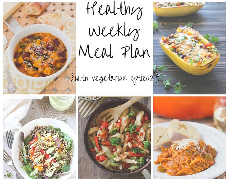 Healthy Weekly Meal Plan | flavorthemoments.com