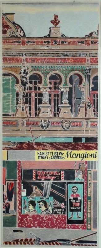 Cressida Campbell - 'Shops at Bondi Junction,' 1984