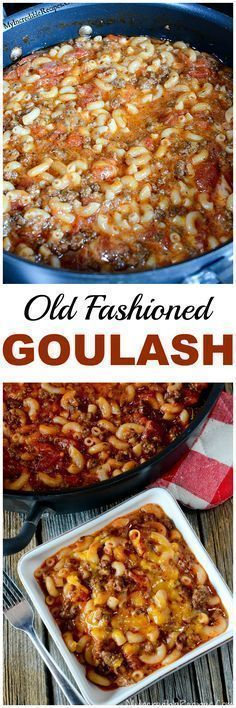Old Fashioned Goulash! SEPT 2016- I made this and it was wonderful! 1 pot meal. I used a dutch oven pot. I also made my own Adobo seasoning for this dish. I cut this dish in half only due there is 2 of us. Also I used ALL broth instead of water. It tasted wonderful! Can't say enough..I recommend this ..