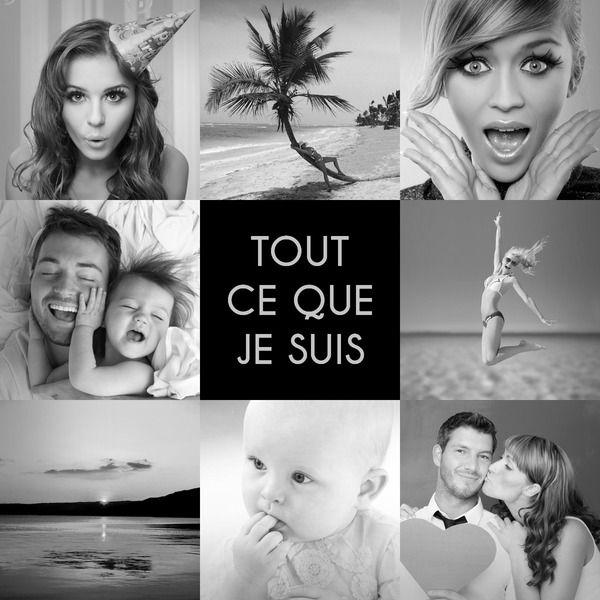 Fotomontaggio Collage 8 foto in bianco e nero - Pixiz