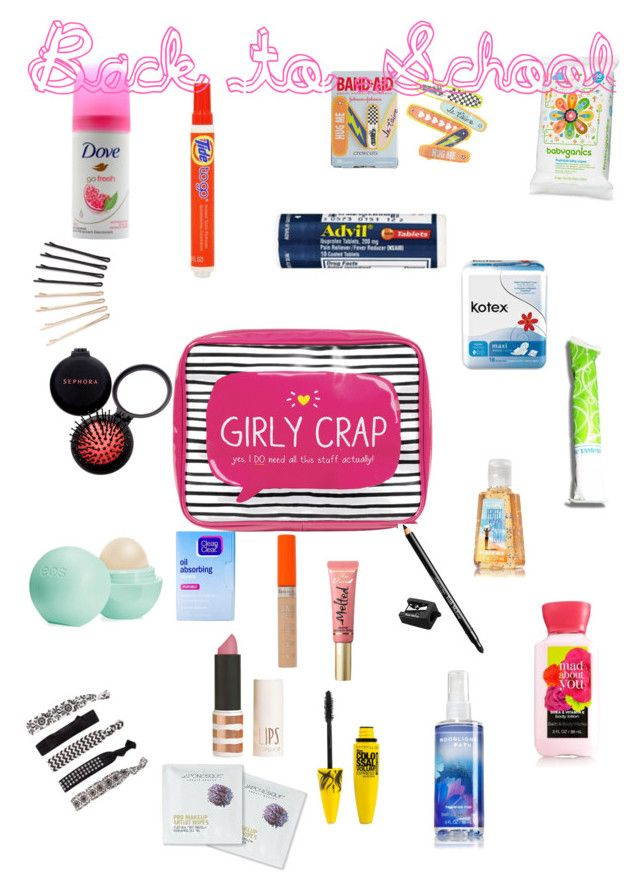 """Back to School: Emergency Kit"" by one-and-only-marlee ❤ liked on Polyvore featuring beauty, Happy Jackson, Topshop, Maybelline, France Luxe, Trish McEvoy, Eos, Sephora Collection, Too Faced Cosmetics and Rimmel"