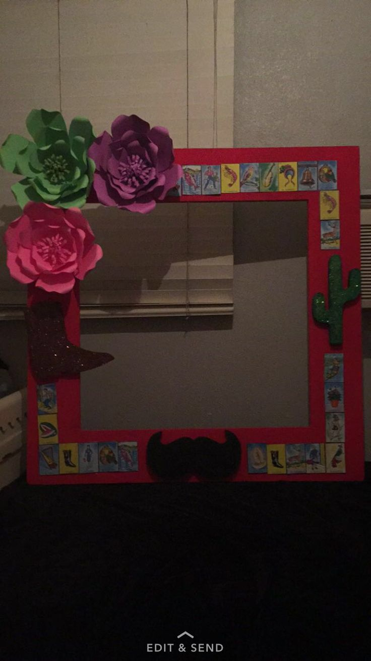 Mexican Theme Party Picture Frame Idea In 2019 Mexican