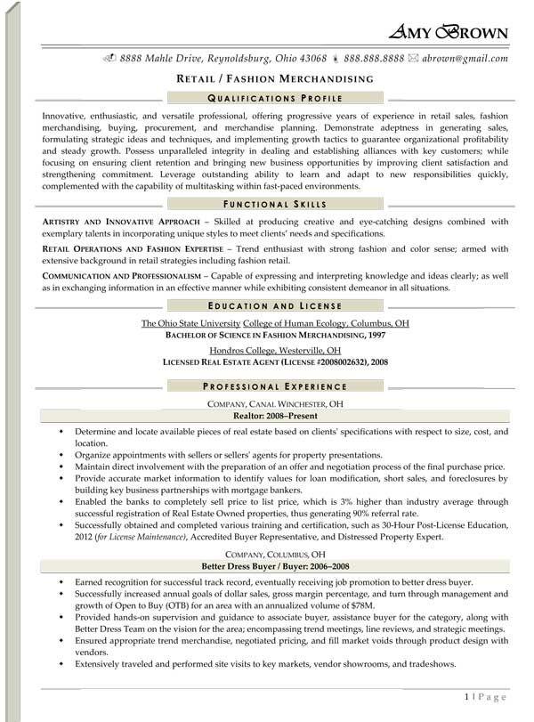 Retail Or Fashion Merchandiser Retail Resume Examples Retail Resume Retail Resume Skills