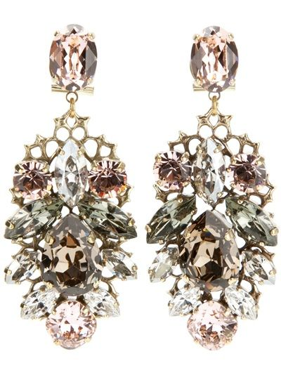 Anton Heunis - chandelier earrings. Gorgeous.