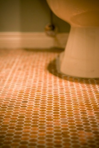 pennie tile floor for the powder room?