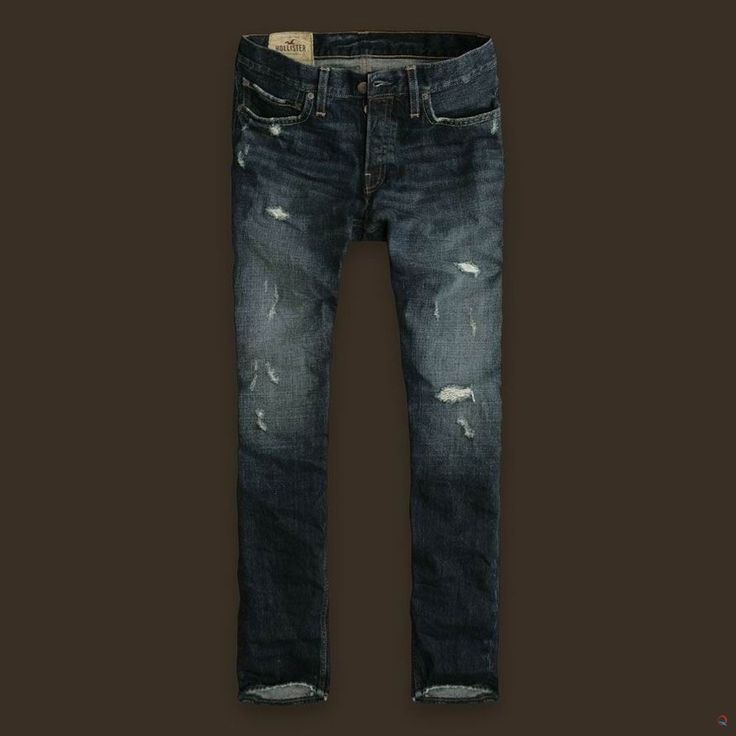 Hollister Men's Jeans Super SkinnyStretch Blue Denim Size W29 L30 (BQ2) These jeans have 5 pockets, a button fly, and a skinny leg. Jeans feature factory applied fading and light grinding on the pockets and heels for that lived-in vibe.