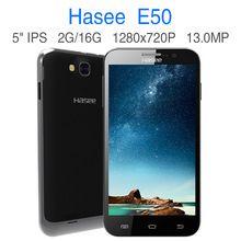 Quad Core MTK 6582 del androide teléfonos celulares originales 5 pulgadas IPS pantalla RAM 2 GB ROM 16 GB Dual sim 3 G teléfono inteligente teléfono Hasee E50