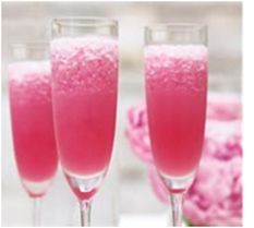 Frozen French lemonade.: Frozen Lemonade, Bachelorette Parties, Red Passion, Cups, Hot Summer Day, Frozen French, Pink Lemonade, Champagne Flutes, French Lemonade