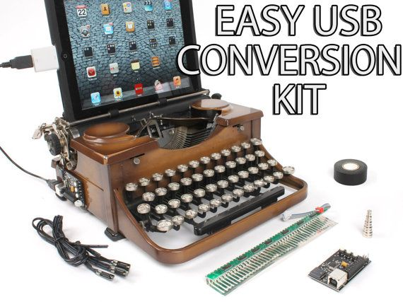 USB Typewriter Conversion Kit. Easy Installation: 79.00. Turn any typewriter into a keyboard. I love this!