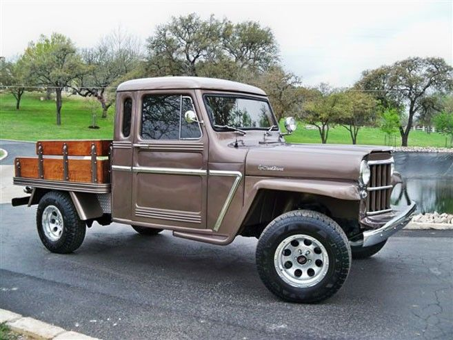old Willys trucks | 1962 Willys Jeep Pickup Truck Flatbed 4x4