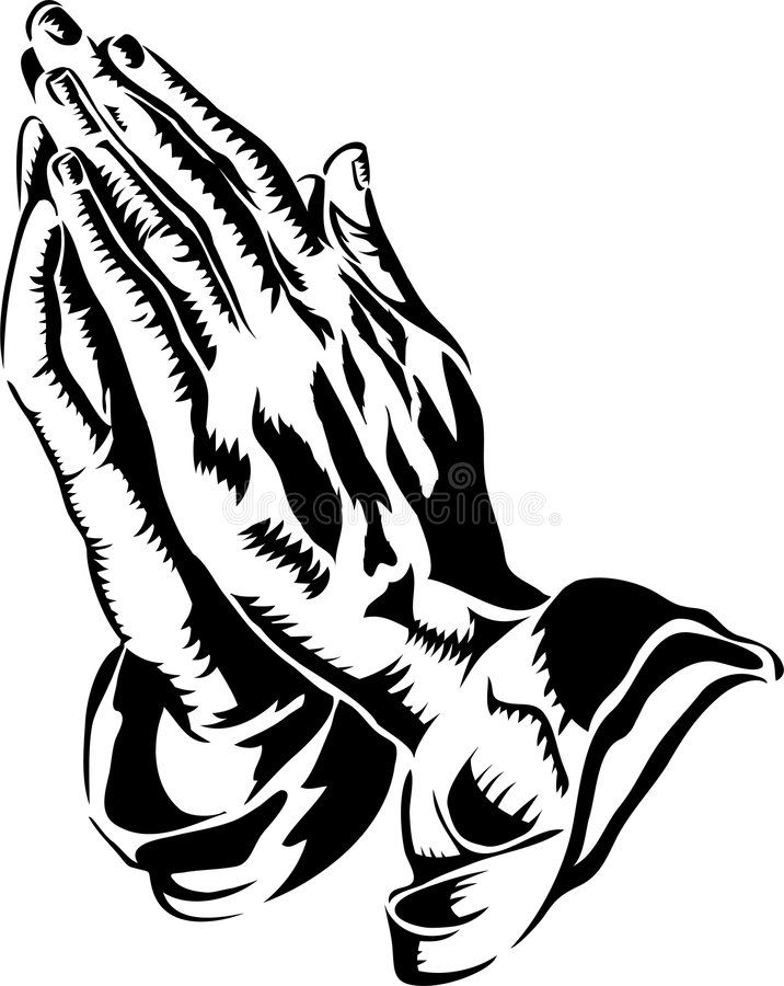 Praying Hands Eps Black And White Illustration Of Praying Hands Similar To The Affiliate Illustration Praying Hands Praying Hands Drawing Hand Clipart