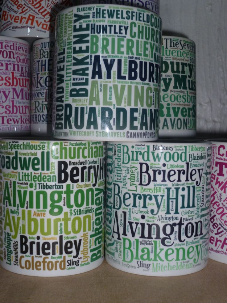 Forest Dean Mugs Custom DyeSub  England Gift Souvenior Promotional Forest of Dean Cinderford Coleford Blaisdon Dene Lydney Drybrook Huntley by WhiteWizardPurpleElf on Etsy