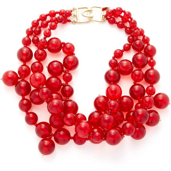 Kenneth Jay Lane Kenneth Jay Lane Women's Resin Bubble Bib Necklace -... ($49) ❤ liked on Polyvore featuring jewelry, necklaces, red, kenneth jay lane necklace, long bubble necklace, long necklace, bubble necklace and red bubble necklace