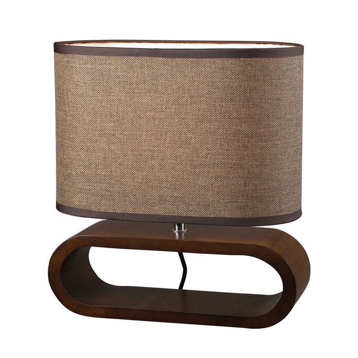 Dimond Lighting D153 Oval Table Lamp in Natural Stained Wood Brown – Table Lamps – Residential Lighting - GreyDock.com