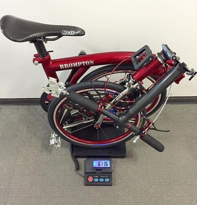 My Brompton Lightweight by 6.13kg✨ #brompton #bro #ブロンプトン #minivelo #ミニベロ #山本 #brompton山本 #ブロンプトン山本 #カスタム #customize #foldingbike #折りたた自転車 #折り畳み自転車 #自転車 #自行車 #carbon #軽量化 #brompton軽量 #mybrompton #カドワキコーティング #kadowaki
