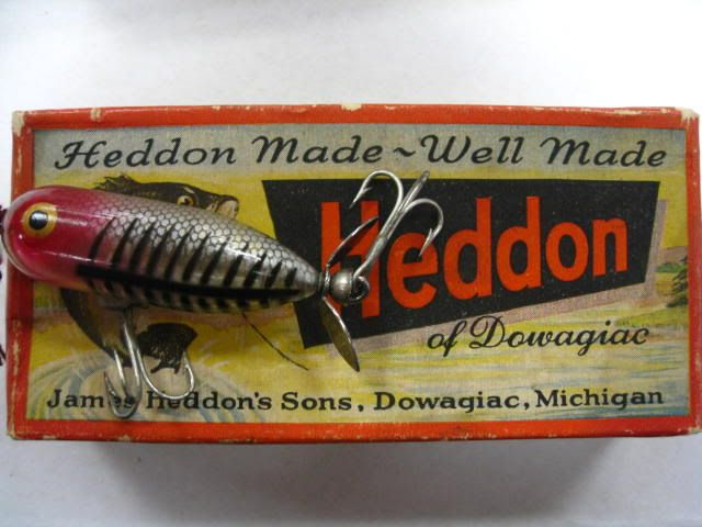 vintage fishing | vintage heddon fishing lure this is a nice vintage fishing lure in ... Made in Dowagiac MI.
