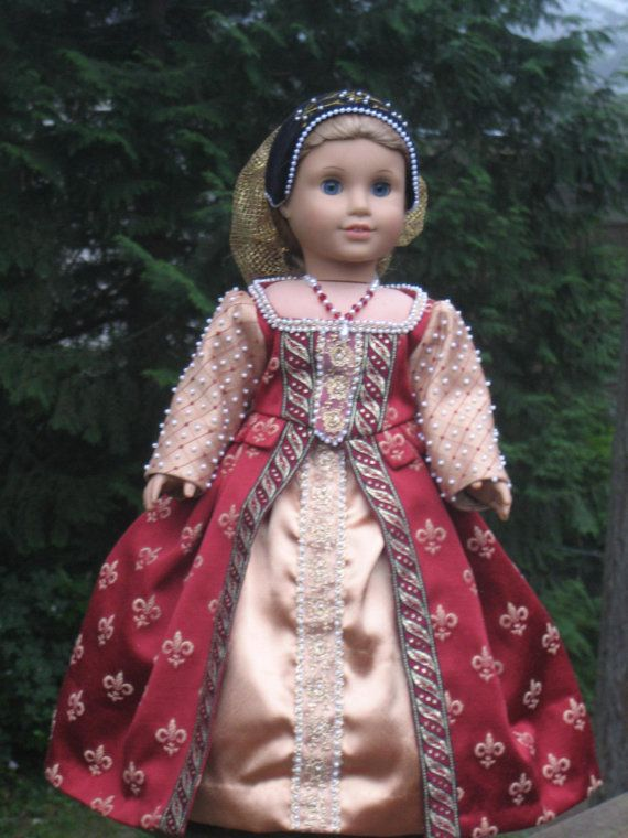 Elizabethan Gown for your American Girl by CarmelinaCreations