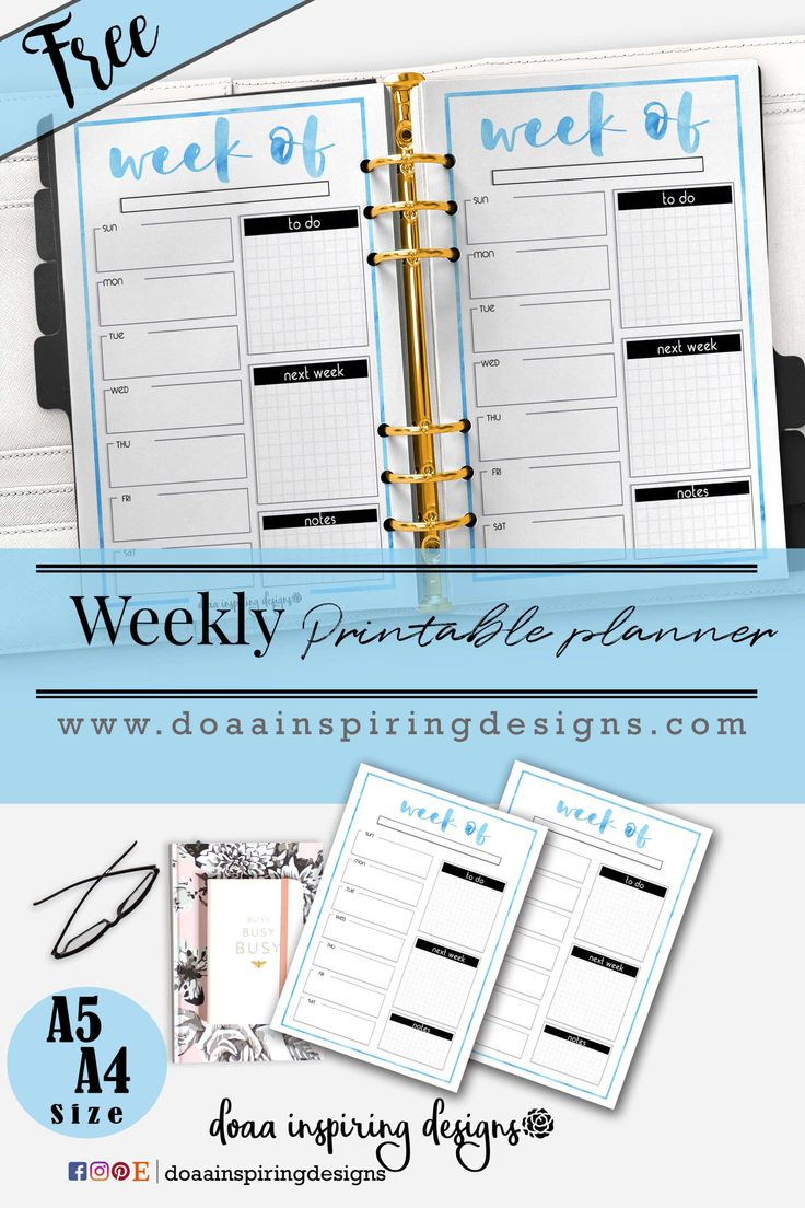 My freebie this week is weekly planner to organize your tasks effectively with cute blue watercolor. Available in A5 & A4 size To get this Printable JustSign up now and the password to the member's page will be sent right to your inbox! Download .. Print it ..and Enjoy <3 Check out my other designs inETSY shop Follow me onInstagram|Facebook|Pinterest Share your planner photos on Hashtag #doaainspiringdesigns Feel free to message me for any comments.  Related