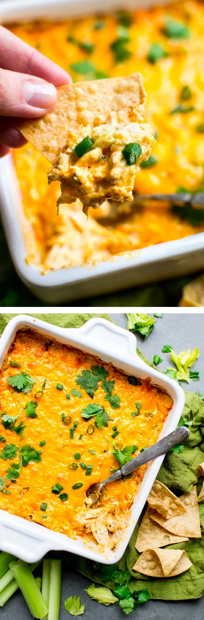 Savory and flavorful Buffalo Chicken Dip makes the perfect game day appetizer.
