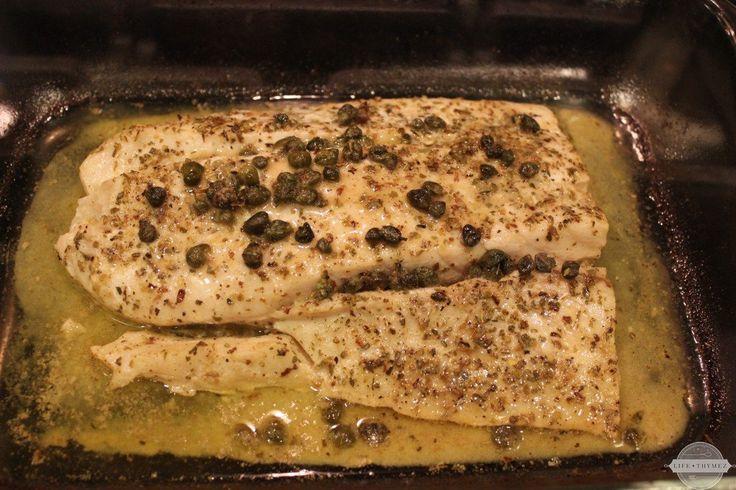 Lemon-Butter and Caper Corvina recipe