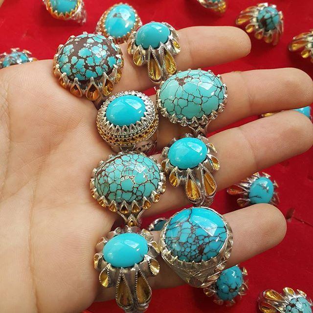 مميزات حجر الفيروز النيشابوري الاصلي Turquoise Bracelet Turquoise Necklace Turquoise Ring