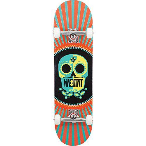 Habitat Skateboards Sugar Skull Complete Skateboard  81 x 31625 -- See this great product.