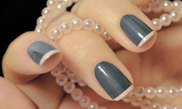 15 Preciosos Diseños de Uñas en color Gris - Manicure