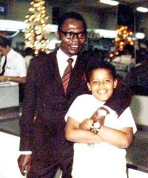 Barack Obama II with his father, Barack Obama I