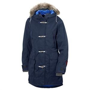 Marineblå vinterjakke fra Didriksons - model Martha Womens Duffel Coat.