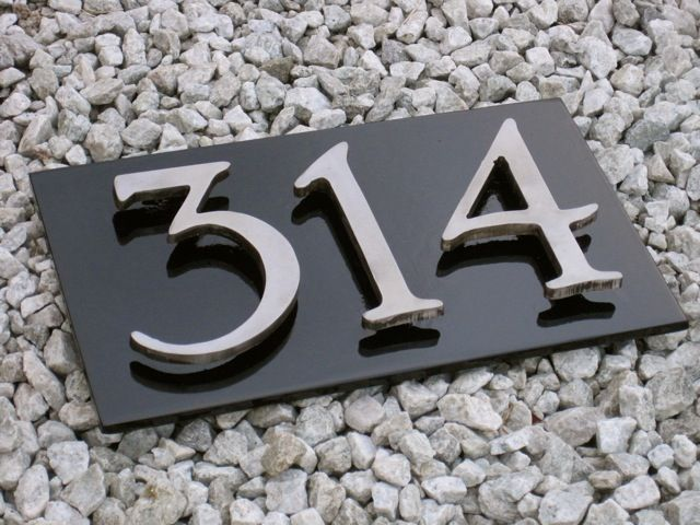 house number signs ideas plaque modern address for vinyl siding