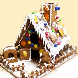 Ein Häuschen aus Pfefferkuchen fein... - Rezept für ein Lebkuchenhaus