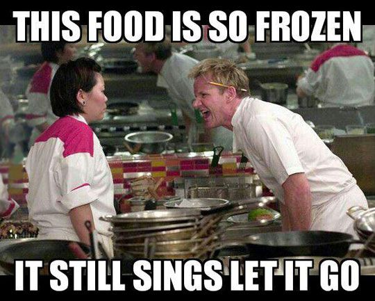 HAHAHAHA!!!!! And what makes it even better is it is Hell's Kitchen that my brother claims is nothing compared to what he goes through at school!