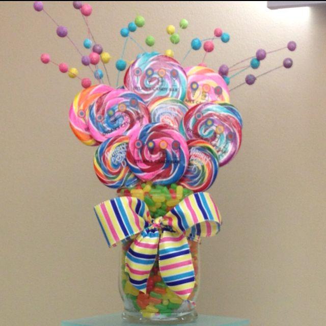 Candy Bouquet centerpiece idea                              …